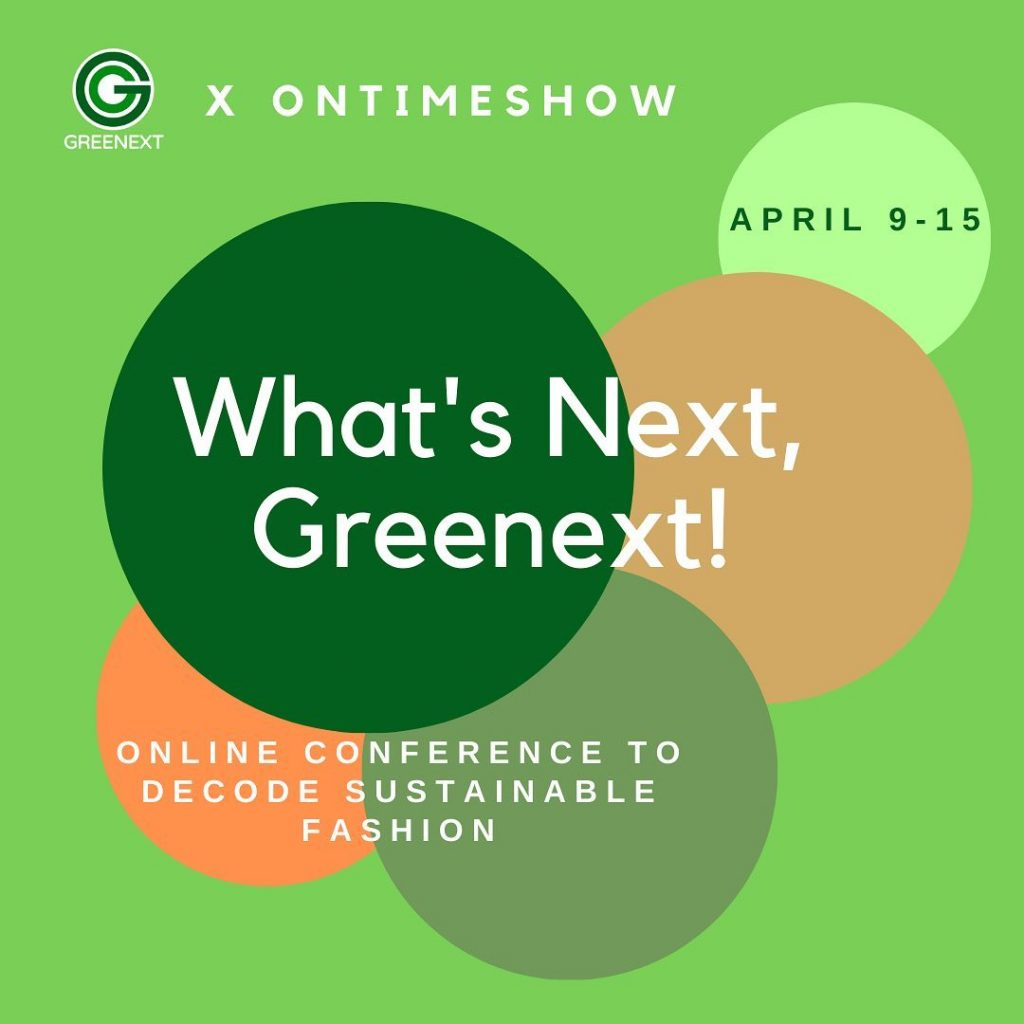 Greenext x Ontimeshow webinar about Sustainable Fashion