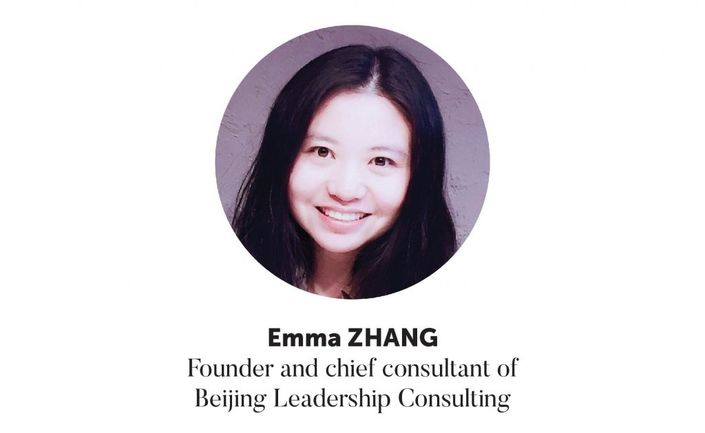 Emma Zhang, Founder and Chief Consultant of Beijing Leadership Consulting