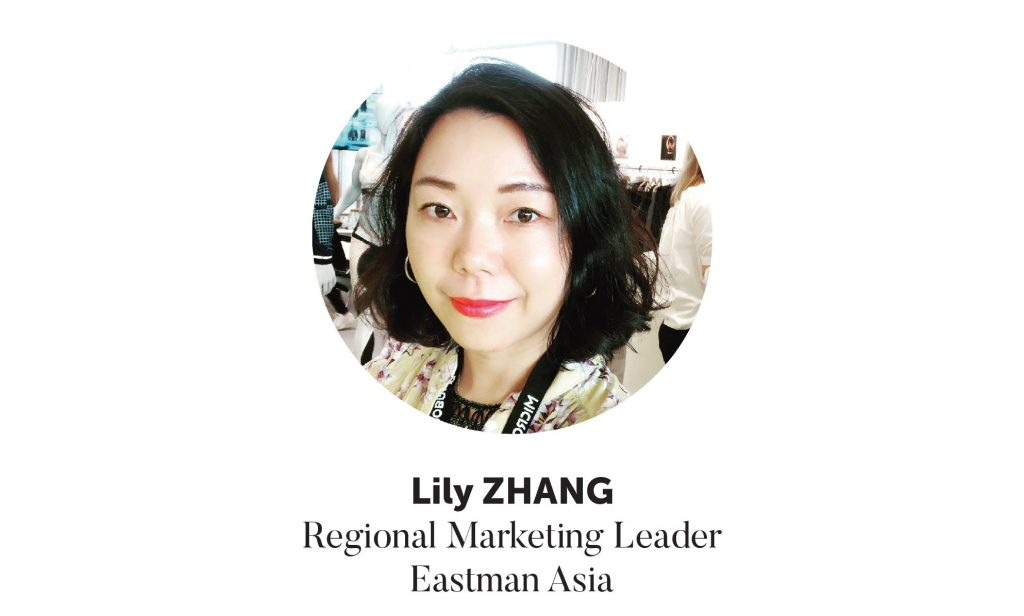 Lily Zhang, Regional Marketing Leader Eastman Asia